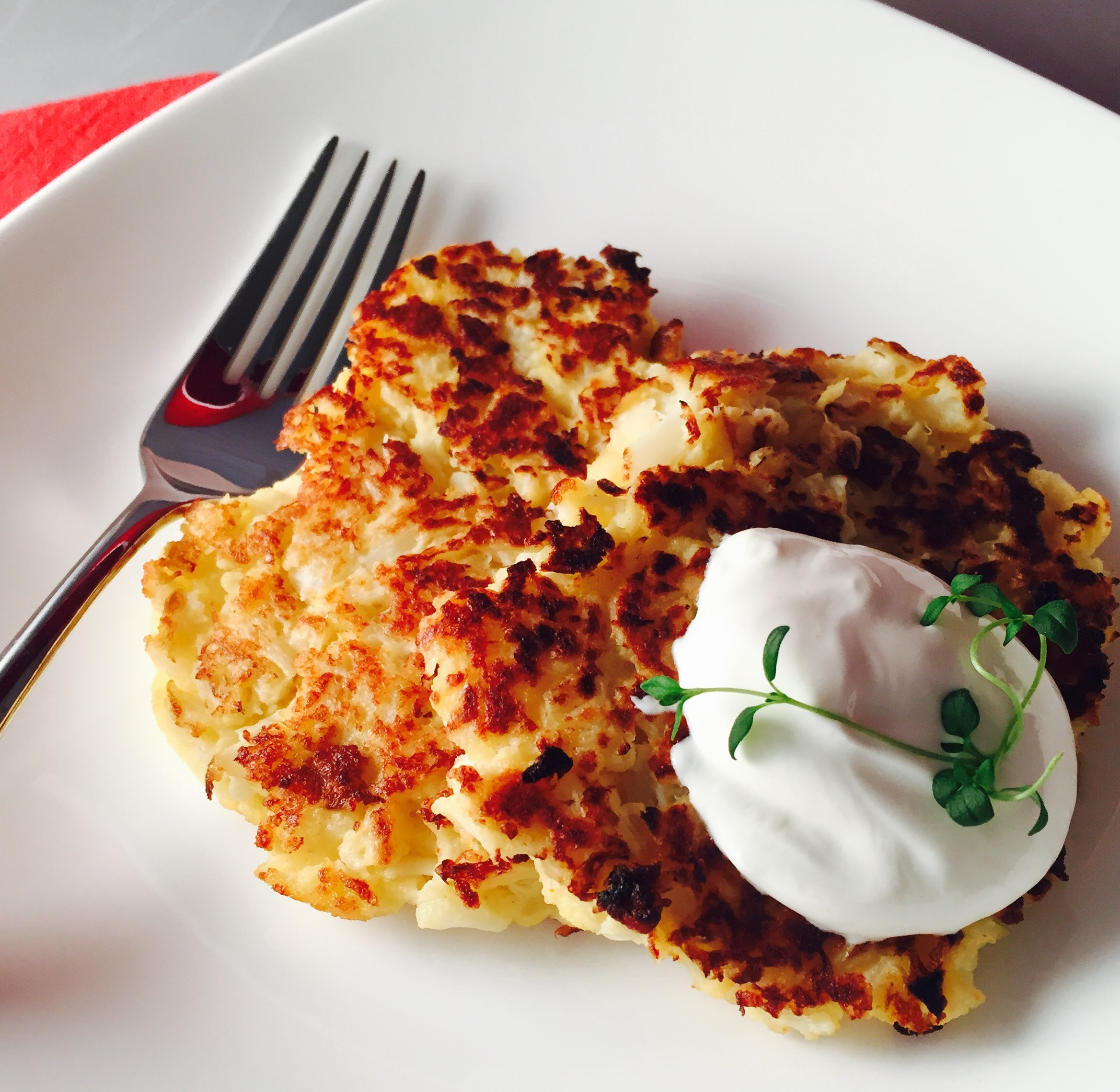 Cheesy Cauliflower Pancakes | The Kitten Kitchen